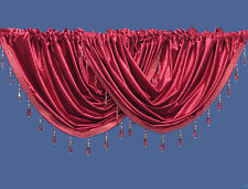 Velvet Beaded Voile Curtain Swags - Pelmet Valance Curtains Swag
