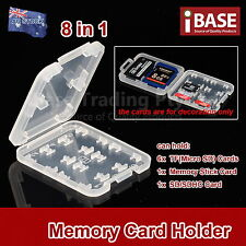 8 in 1 Memory Card Holder MICRO SD TF SDHC Protection Box Stick Storage Case