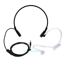 3.5mm Throat MIC Headset Covert Acoustic Tube Earpiece for iPhone Android Black