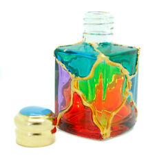 Murano Glass Perfume Bottle Multi Coloured Gold Red Purple Green Millefiori 5cm