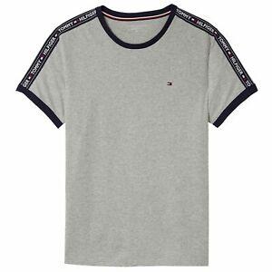 Tommy Hilfiger Mens T Shirt - Crew Neck - Colour Grey - Size: Medium M - BNWT