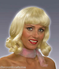 BLONDE 60s FLIP WIG MOD STYLE ADULT COSTUME ACCESSORY
