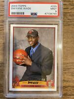 2003-04 Topps Dwyane Wade Rookie PSA 9 Mint 03 Dwayne RC #225 Miami Heat