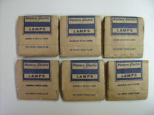Lot of 6 (5 packs) Western Electric 2G Switchboard Light Bulbs  30 bulbs total