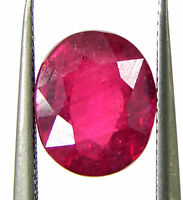 2.91 Ct Natural Certified Ruby Loose Gemstone Oval Cut Mozambique Stone - 133124