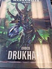 Warhammer 40k Drukhari Dark Eldar 8th Edition Codex Game Workshop 40,000 New HC!