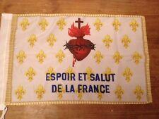 DRAPEAU FLEUR DE LYS OR ESF 150x90cm - DRAPEAU ROYALISTE ESPOIR ET SALUT DE LA F