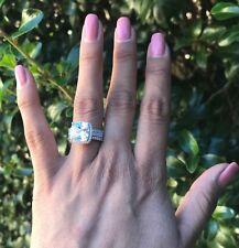6.5ct TDW Bridal Set 3pc Diamond Engagement Wedding Bands Ring Real 925 Silver