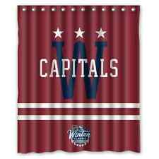"Personalized Washington Capitals Hockey Waterproof  60"" x 72"" Shower Curtain"