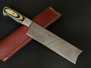 "12"" INCH CUSTOM HAND MADE DAMASCUS STEEL CHEF KNIFE CF-5206"