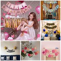 Alles Gute zum Geburtstag Bunting Banner Flagge Perfektion Girlande Party Dekor