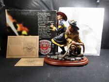 "Vanmark  Red Hats Of Courage   "" The Nozzlemen ""  Fireman  -  In Box With COA"