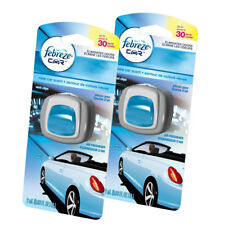 Febreze Car Vent Clips Air Freshener and Odor Eliminator, New Car - 2 Pieces