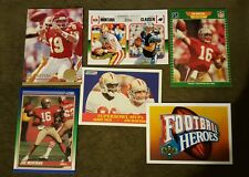 JOE MONTANA 6 card lot ALL DIFFERENT NFL Hall Of Fame Jerry Rice,San Francisco
