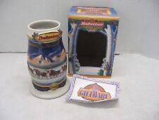 Vintage Budweiser Beer Stein 2000 Holiday in the Mountains Mug Christmas Nib