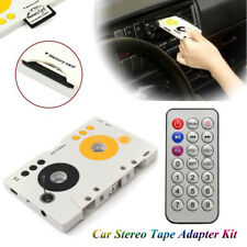Car Stereo Cassette Tape SD MMC Mp3 Player Adapter with Remote Control USB Cable