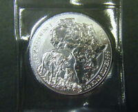 2015 Rwanda 1oz African Wildlife Series Buffalo Silver Bullion Coin Mint Sealed