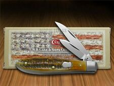 CASE XX 6.5 Bone Stag Tear Drop Jack Chrome Vanadium Pocket Knives Knife
