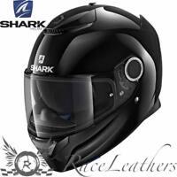 SHARK SPARTAN NEGRO BRILLANTE Motocicleta Moto Casco +Pinlock+Visera
