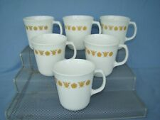 Corelle Golden Butterfly Coffee Mugs or Cups – 6 Pieces