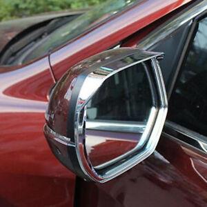 For HONDA CRV CR-V 2017 2018 Chrome Rearview Mirror Visor Eyelid Cover Trim