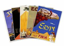 Set of Five (5) - EGYPT Egyptian Vintage Reprint Travel Print Posters 18X24