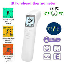 Digital LCD IR Infrared Forehead Thermometer Gun fever Temperature Measurement@A