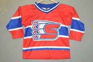 Toddler 2/3 Kids Spokane Chiefs WHL Vintage Throwback Minor League Hockey Jersey