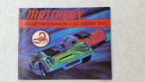 Vintage Matchbox Collector's Catalog USA 1971