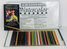NEW  36 Prismacolor WATERCOLOR PENCILS OPENED NOT USED Wet or Dry  in Box 1998