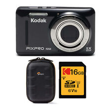 Kodak PIXPRO Friendly Zoom FZ53 Digital Camera Black with Case and Memory Card