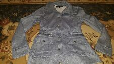 *Black Rivet Women's Blueish Gray Belted Jacket Size Small Polyester