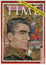 Shah of Iran - Mohammad Reza Pahlavi - Autographed Vintage 1960 Time Mag Cover