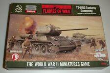FLAMES-OF-WAR T34/85 TANKOVY COMPANY SOVIET ( 5 METAL & RESIN TANKS )
