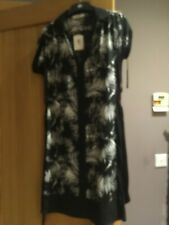 BNWT Oasis Havana shirt dress size XS approx 10 black and white palm trees