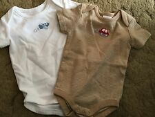 Gymboree Bodysuits Shirt Size 0-3 Months Short Sleeve Airplane Car