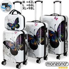 Monzana® 4tlg. Hartschalenkoffer Reisekoffer Zwillingsrolle Beautycase Set ABS