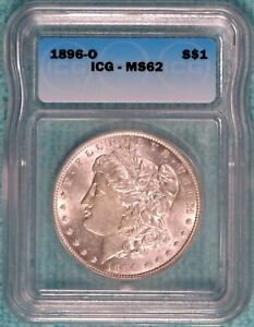 1896-O MS-62 Morgan Silver Dollar Uncirculated $1