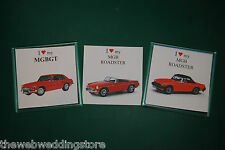 MGB - MGB/GT - Roadster - Drink mat - Coaster - Gift - Fathers day - Retro Gift