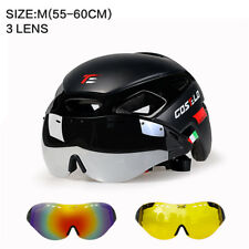 Costelo Road Bike Helmet Mountain Bicycle Cycling Helmet With Goggles 3 lens