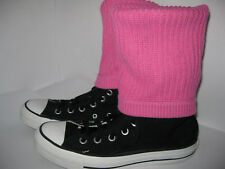 Converse Womens Black/Pink Knitted Knee High Trainers Size UK 5 EU 37.5