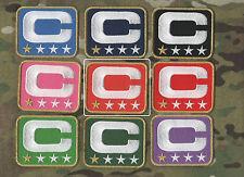 NFL TEAM LEADER JERSEY CAPTAINS PATCH ONE-STAR 1-STAR ORANGE CAPTAINS C-PATCH