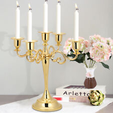 Vintage 5 Arms Candle Holder Metal Crafts Candelabra For Xmas Home Wedding Party
