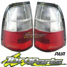TAILLIGHTS PAIR SUIT HOLDEN RODEO TF 97-03 CLEAR & RED TAILLAMPS TAIL LIGHT LAMP