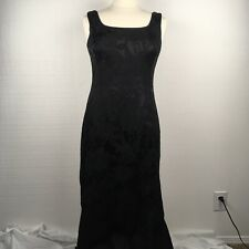 Redux Charles Chang-Lima Dress 8 Womens Black Sleeveless Embroidered Long Gown
