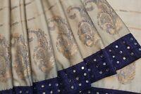 Bollywood Silk Chiffon Designer Mirror Work Blouse Saree Indian Sari Party Dress