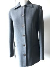 Giorgio Armani Women's Wool CHARCOAL GREY single brusted Coat Italy 12