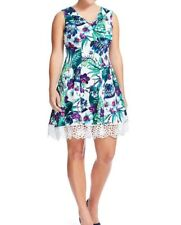 7b74b4b73c2 Donna Ricco Sleeveless Tropical Floral Scuba Fit And Flare Dress Size 12