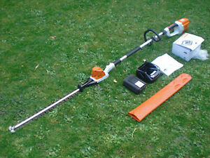 Stihl Cordless HLA65 Long Reach Hedge Trimmer Cutter AP300 Battery & New Charger