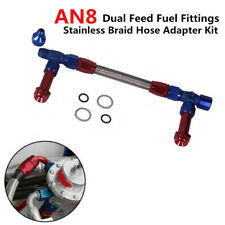"AN8 Dual Feed Fuel Fittings Braid Hose Adapter For 4150 7/8""-20 Thread Dominator"